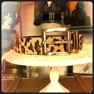 Etienne Aigner Leopard/Black Reversible Belt